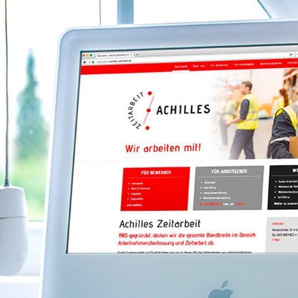 Logo und Webseite für Achilles