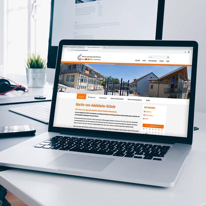 Neue Webseite für die Martin-von-Adelsheim-Schule