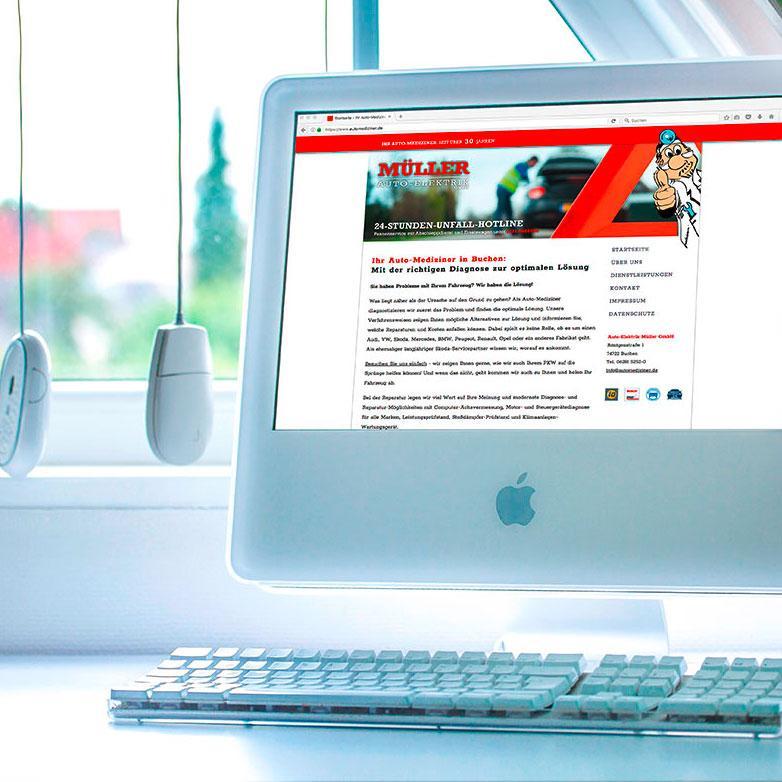 Eine Webseite für den Automediziner