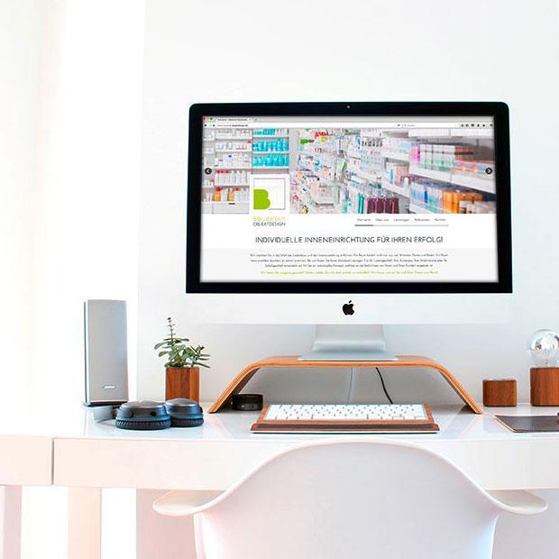 Passendes Webdesign für Objektdesigner