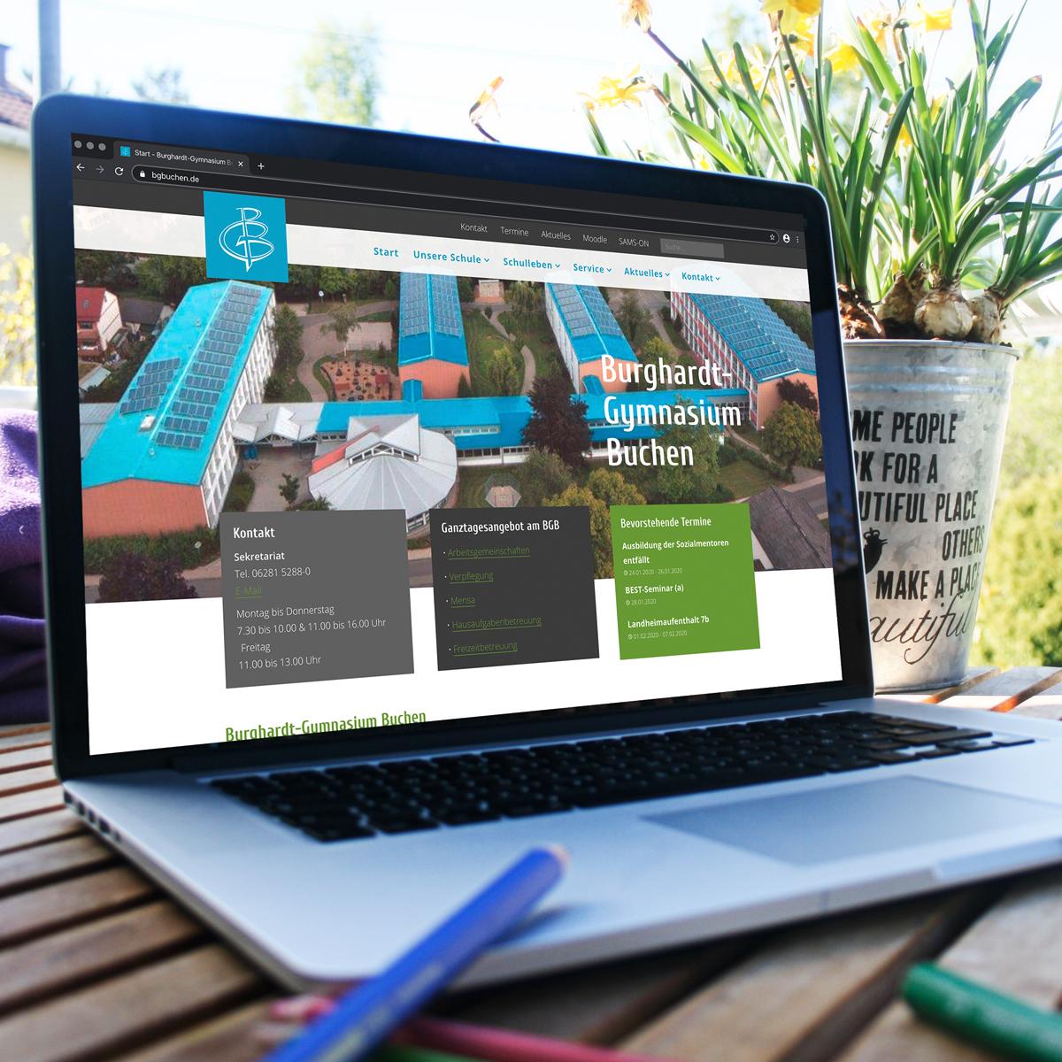 Neue Webseite für das Burghardt-Gymnasium Buchen