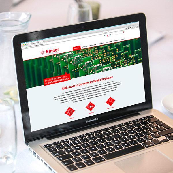 Neue Webseite für Binder