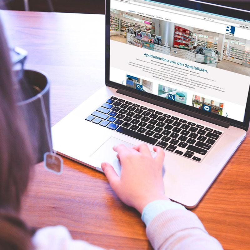 Eine Webseite für Apothekenbau Böhrer