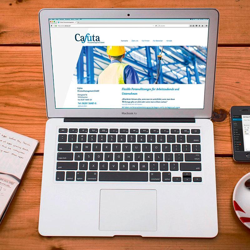 Neue Webseite für Cafuta
