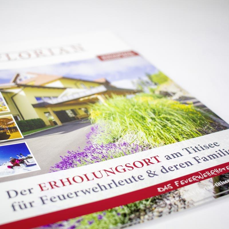 Broschüre für das Feuerwehrhotel St. Florian in Titisee-Neustadt