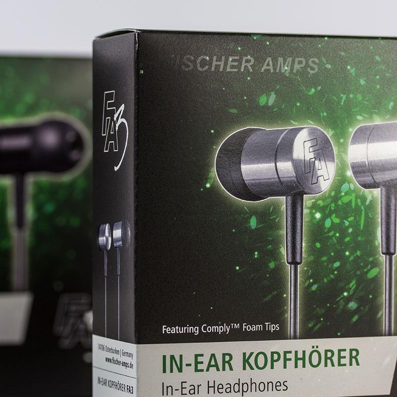 Kopfhörer-Verpackung für FischerAmps