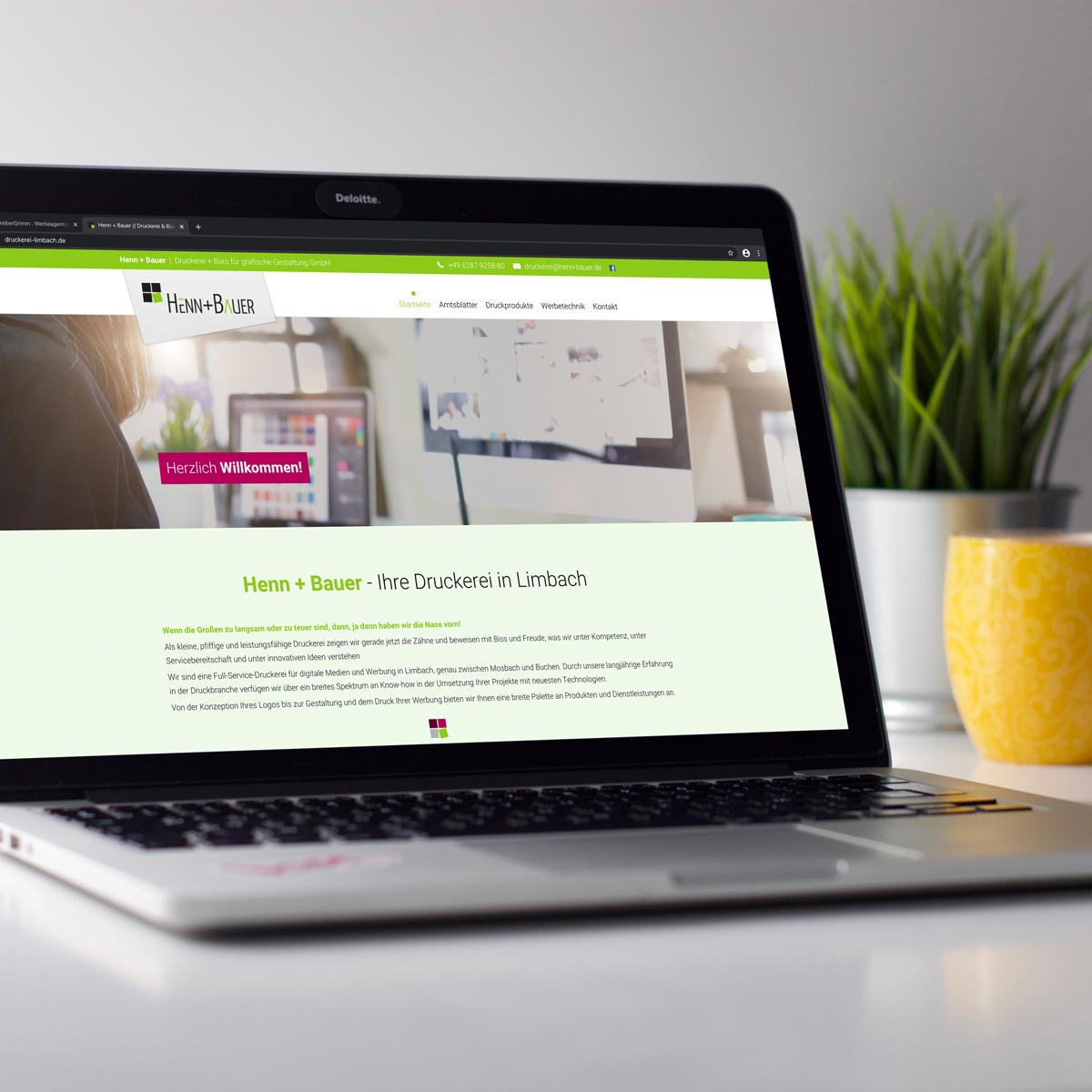 Webseite für Henn + Bauer