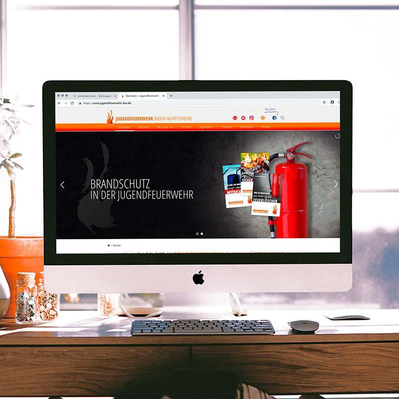 Webseite für die Jugendfeuerwehr Baden-Württemberg
