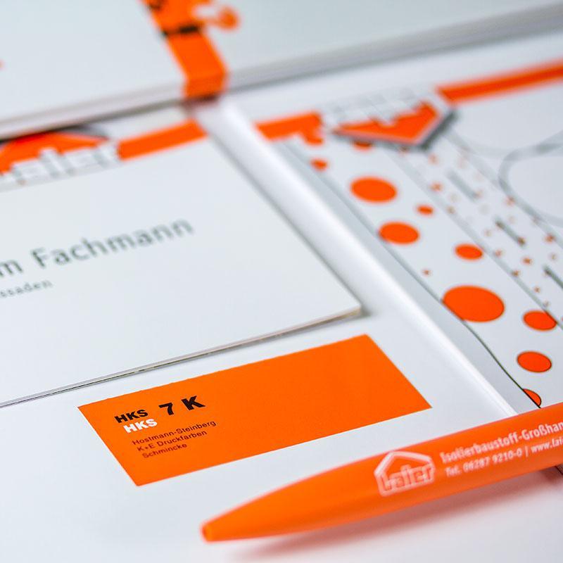 Drucksachen für die Rudolf Laier GmbH