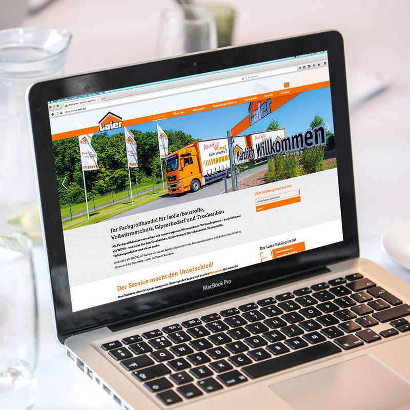 Webseite für die Rudolf Laier GmbH