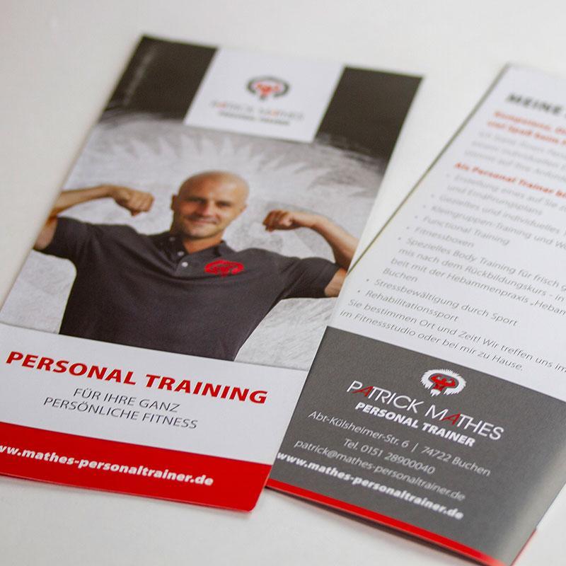 Ein Flyer für das Personal Training
