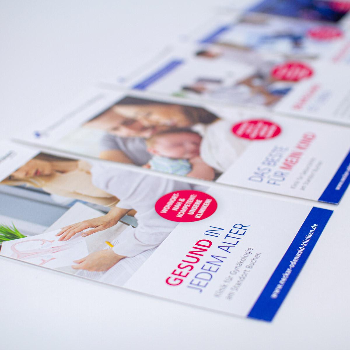 Flyer & Plakate für die Neckar-Odenwald-Kliniken
