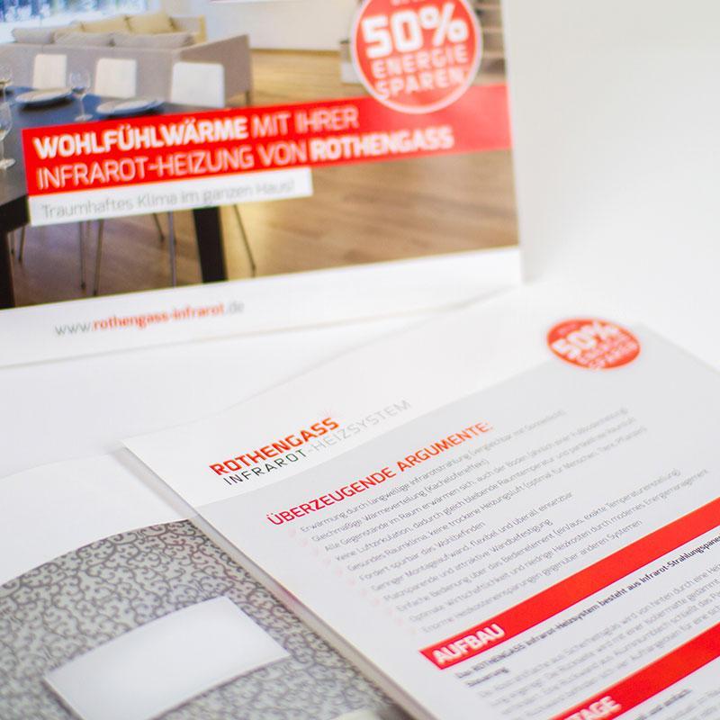 Werbung für Infrarotwärme von Rothengass