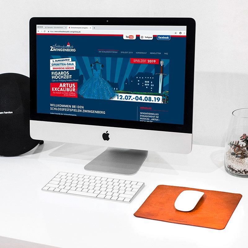 Webseite und Online-Shop für die Schlossfestspiele Zwingenberg