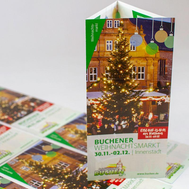 Werbung für den Weihnachtsmarkt
